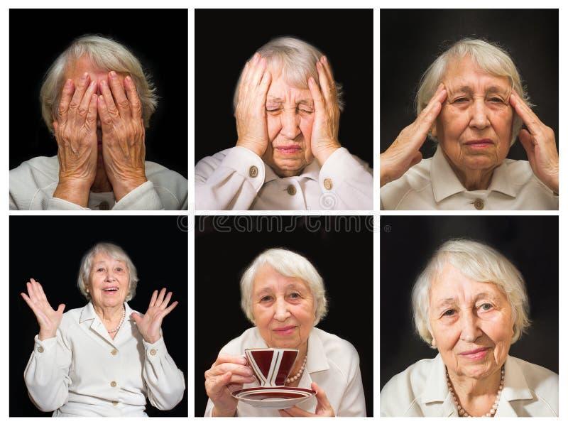 Ανώτερη γυναίκα που απολαμβάνει το φλυτζάνι του τσαγιού στοκ φωτογραφία με δικαίωμα ελεύθερης χρήσης