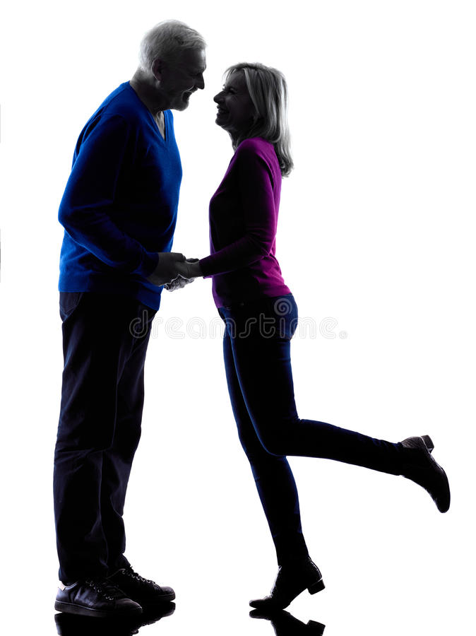 Ανώτερη σκιαγραφία φιλήματος ζεύγους στοκ φωτογραφία με δικαίωμα ελεύθερης χρήσης