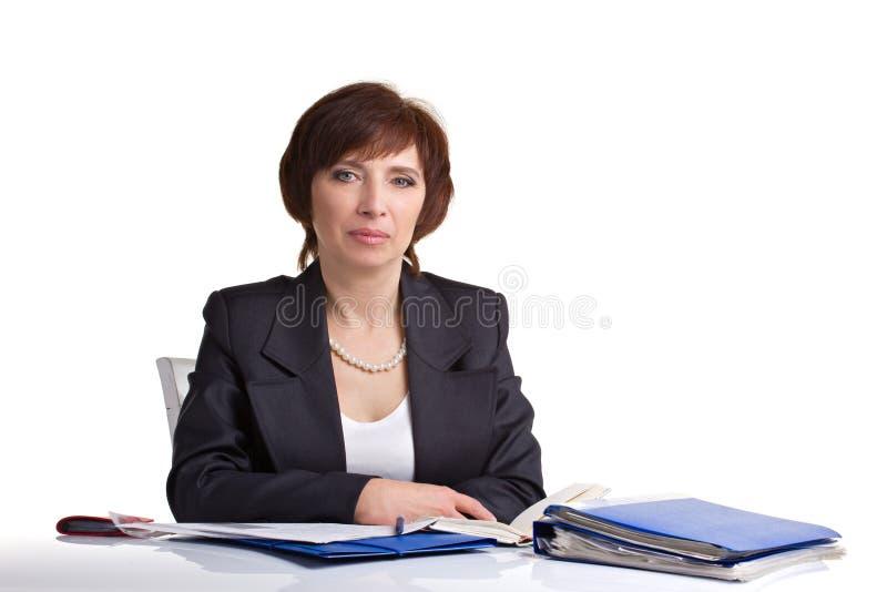 Ανώτερη συνεδρίαση γυναικών στοκ εικόνες