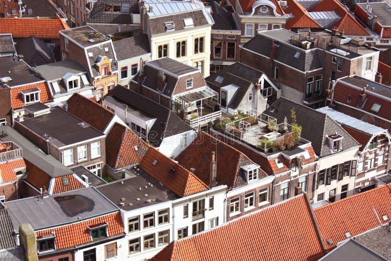Ανώτερη όψη Zwolle στοκ εικόνες