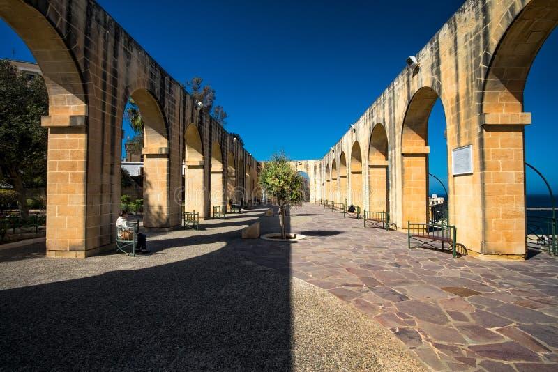 Ανώτεροι κήποι Barakka valletta Μάλτα στοκ εικόνες
