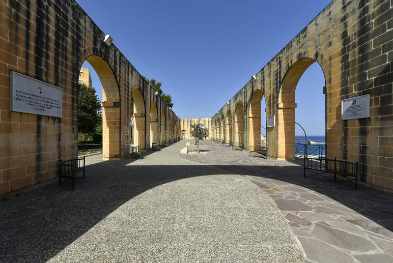 Ανώτεροι κήποι Valletta, Μάλτα Barrakka στοκ φωτογραφίες