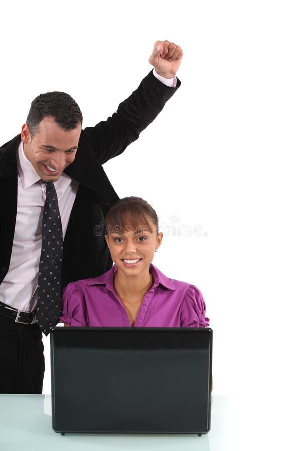 Ανώτεροι υπάλληλοι ευτυχείς στοκ φωτογραφίες με δικαίωμα ελεύθερης χρήσης