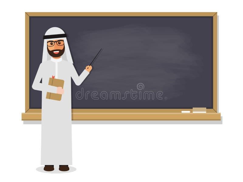 Ανώτερος αραβικός δάσκαλος ελεύθερη απεικόνιση δικαιώματος