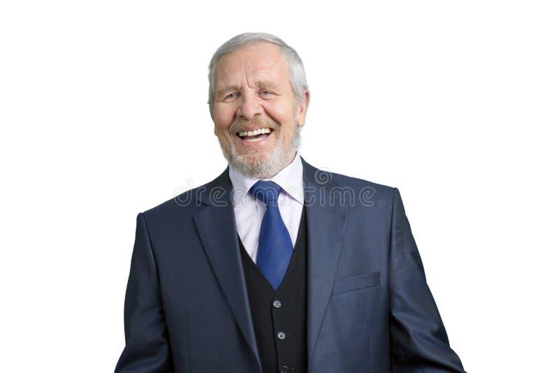 Ανώτερος παλαιός επιχειρηματίας που γελά σκληρά στοκ φωτογραφίες με δικαίωμα ελεύθερης χρήσης