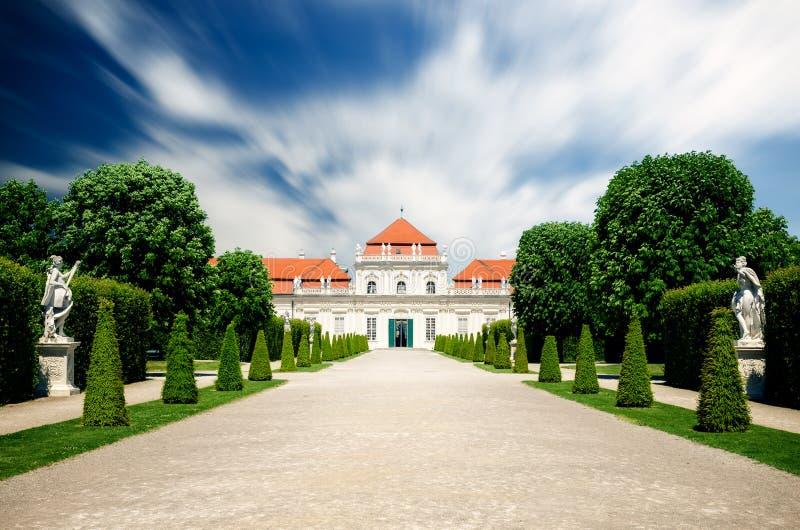 Ανώτερος πανοραμικός πυργίσκος Castle στη Βιέννη στοκ φωτογραφίες