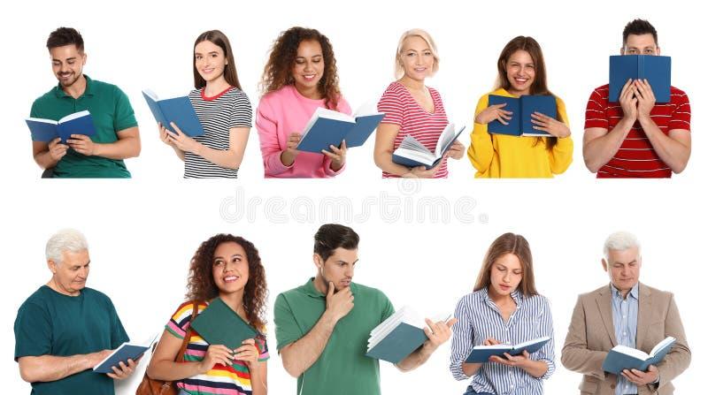 Ανώτερο βιβλίο ανάγνωσης ατόμων στο λευκό στοκ φωτογραφία με δικαίωμα ελεύθερης χρήσης