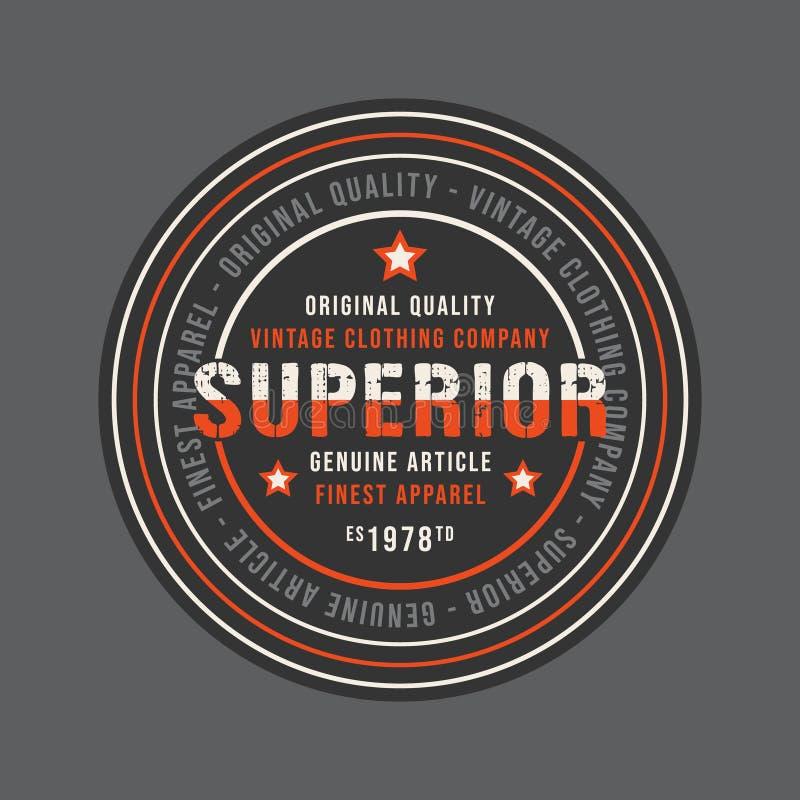 Ανώτερο εκλεκτής ποιότητας στρογγυλό γραμματόσημο για το τζιν ή την μπλούζα απεικόνιση αποθεμάτων