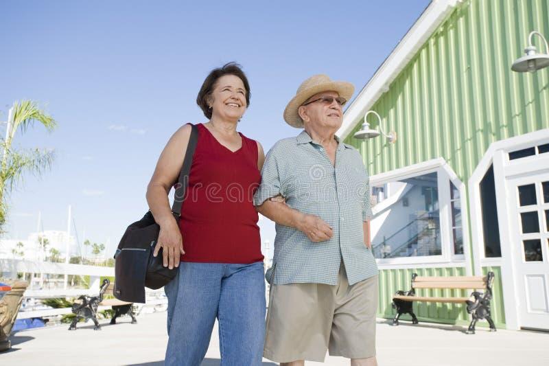 Ανώτερο ζεύγος που περπατά από κοινού στοκ εικόνα με δικαίωμα ελεύθερης χρήσης