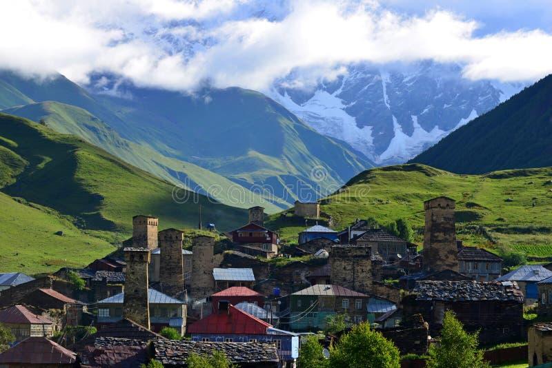Ανώτερο Svaneti, Γεωργία στοκ εικόνα με δικαίωμα ελεύθερης χρήσης