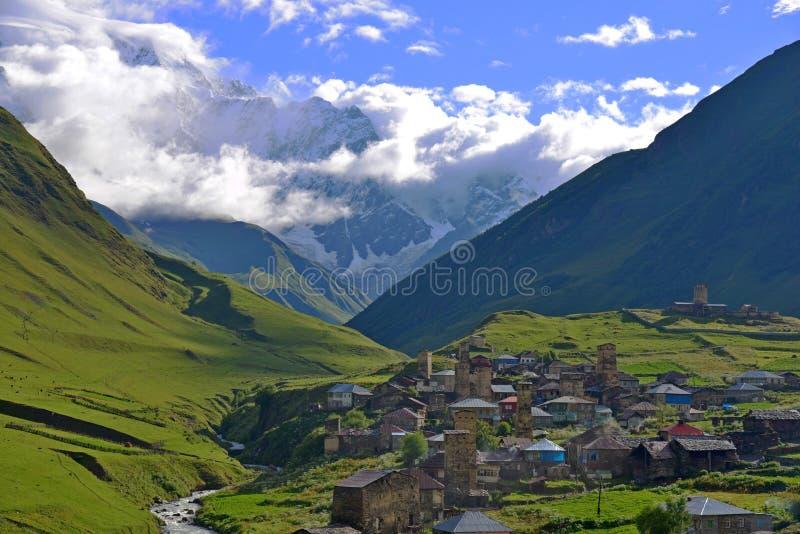 Ανώτερο Svaneti, Γεωργία στοκ φωτογραφία με δικαίωμα ελεύθερης χρήσης