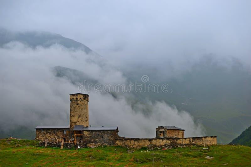 Ανώτερο Svaneti, Γεωργία στοκ εικόνα