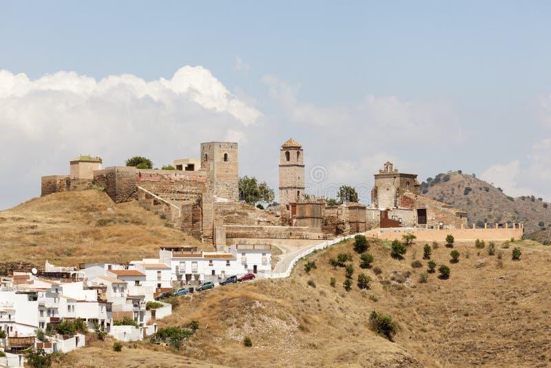 Ανδαλουσιακό χωριό Alora, Ισπανία στοκ εικόνες