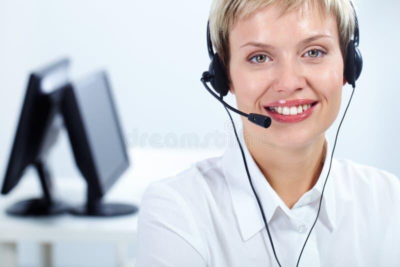 αξιαγάπητος θηλυκός γραμματέας στοκ φωτογραφία με δικαίωμα ελεύθερης χρήσης