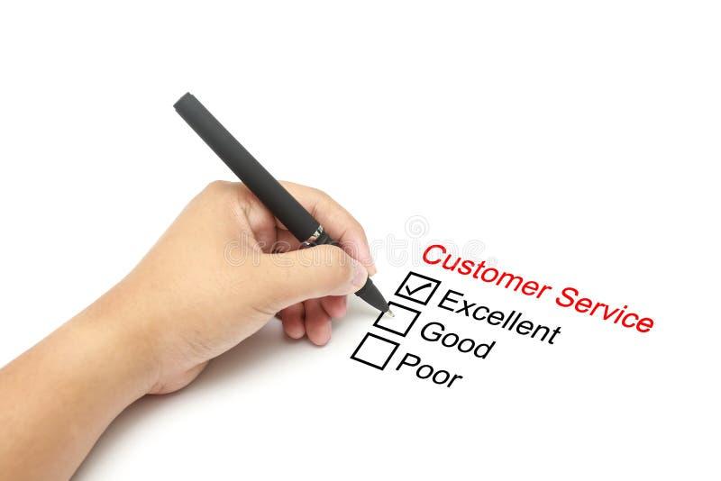 Αξιολόγηση απόδοσης εξυπηρέτησης πελατών στοκ φωτογραφία
