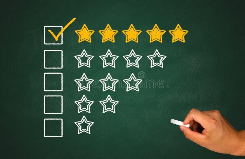 Αξιολόγηση προϊόντων και υπηρεσιών στοκ φωτογραφία με δικαίωμα ελεύθερης χρήσης