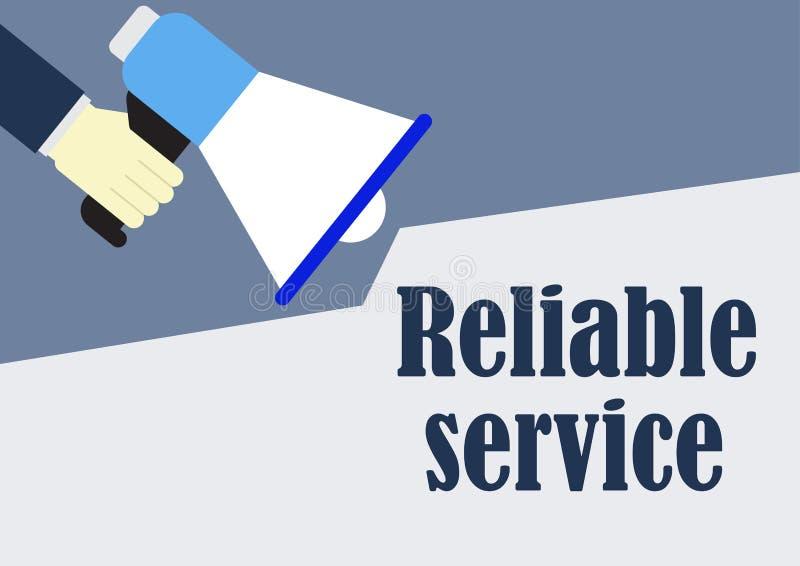 Αξιόπιστο megaphone εκμετάλλευσης χεριών έννοιας επιχείρησης παροχής υπηρεσιών ελεύθερη απεικόνιση δικαιώματος