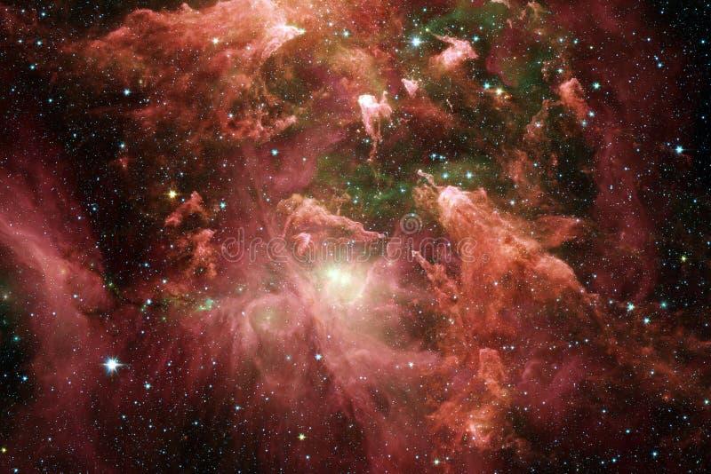 Απίστευτα όμορφος γαλαξίας κάπου στο βαθύ διάστημα Ταπετσαρία επιστημονικής φαντασίας στοκ εικόνες