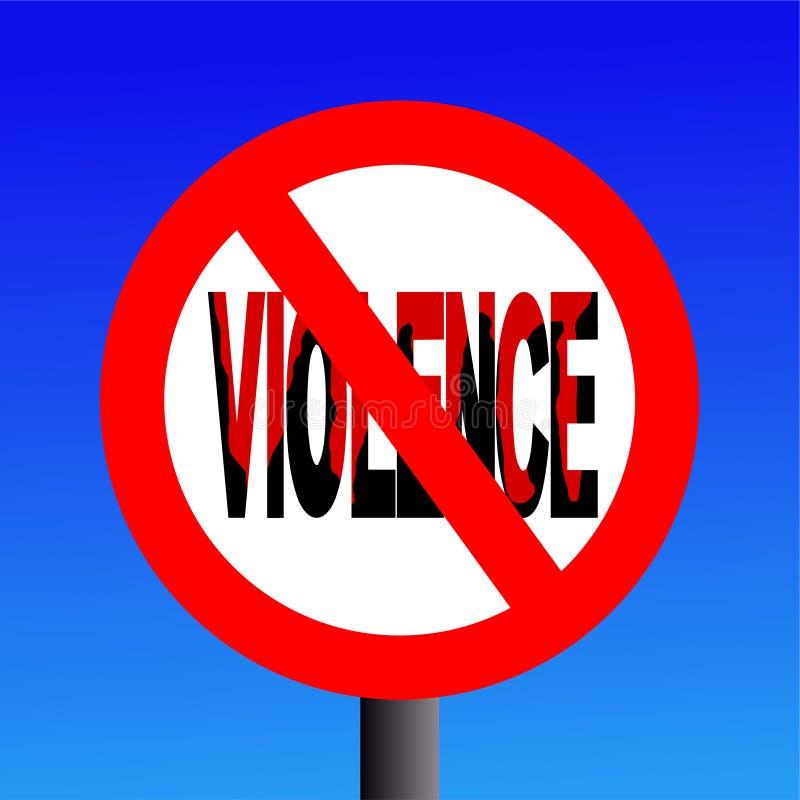 απαγορευμένη βία σημαδιών διανυσματική απεικόνιση