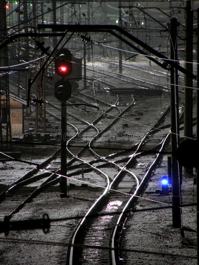 απαγορευμένος κίνηση σιδηρόδρομος στοκ εικόνα με δικαίωμα ελεύθερης χρήσης