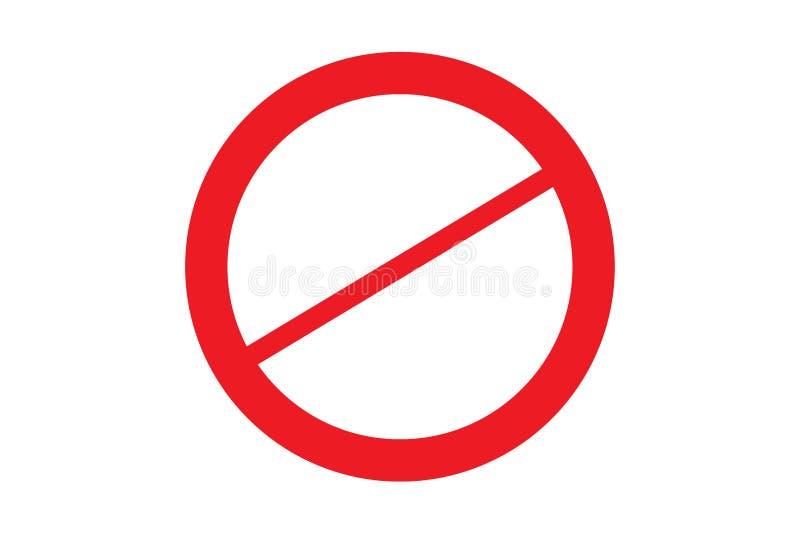 Απαγορευμένος απαγορευμένος κύκλος με τη διασχισμένη κόκκινη γραμμή στη μέση απλή εικόνα συμβόλων σημαδιών στο άσπρο διαφανές υπό απεικόνιση αποθεμάτων