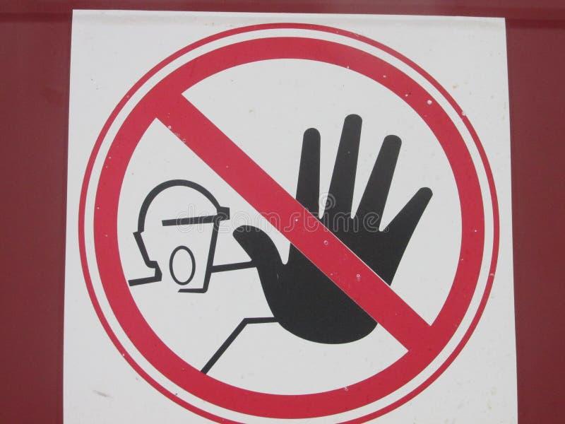 Απαγορευτικό σημάδι στοκ φωτογραφία