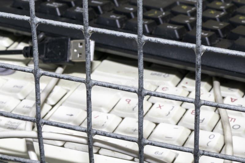 Απαγορεύσεις και περιορισμοί στο διαδίκτυο στοκ φωτογραφίες με δικαίωμα ελεύθερης χρήσης