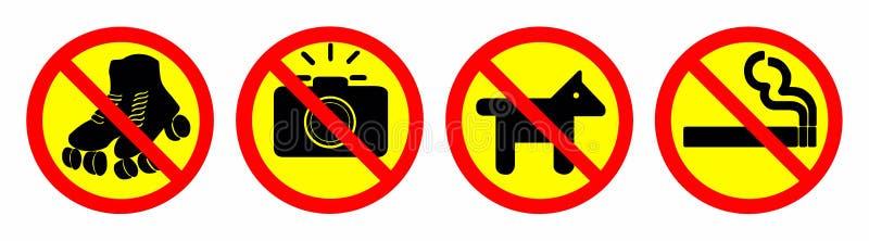 απαγορεύστε το σημάδι στοκ εικόνες