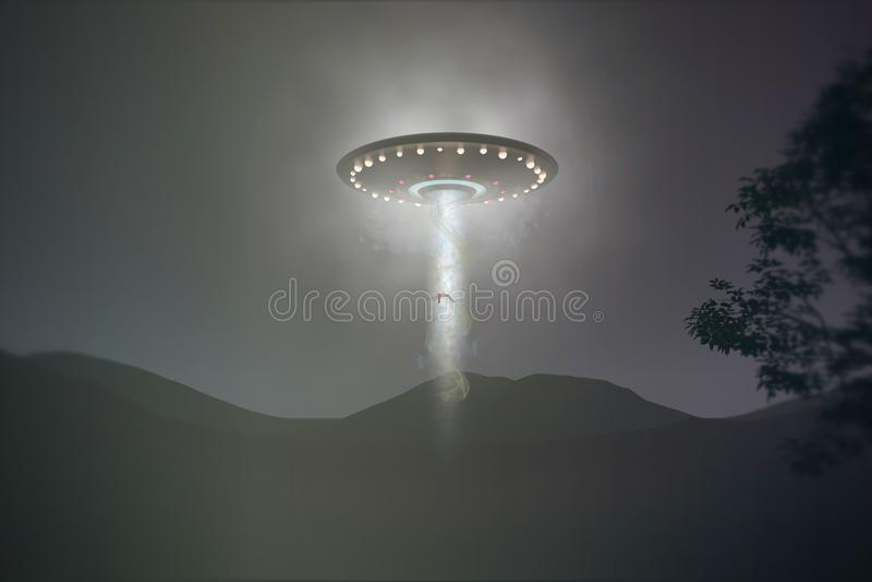 Απαγωγή UFO ελεύθερη απεικόνιση δικαιώματος