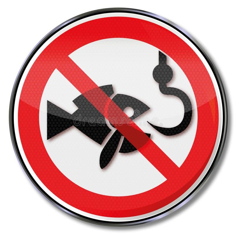 Απαγόρευση απαγόρευσης για την αλιεία ελεύθερη απεικόνιση δικαιώματος