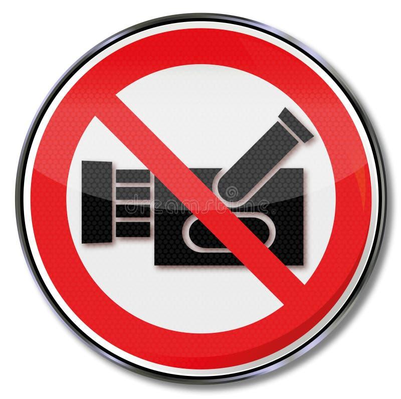 Απαγόρευση για τη μαγνητοσκόπηση διανυσματική απεικόνιση