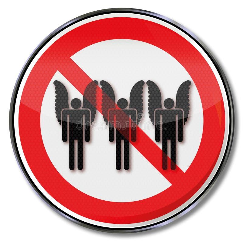 Απαγόρευση για τους αγγέλους και τη θλίψη απεικόνιση αποθεμάτων