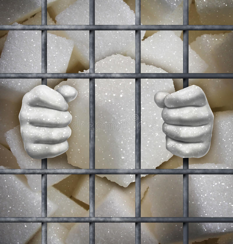 Απαγόρευση ζάχαρης απεικόνιση αποθεμάτων