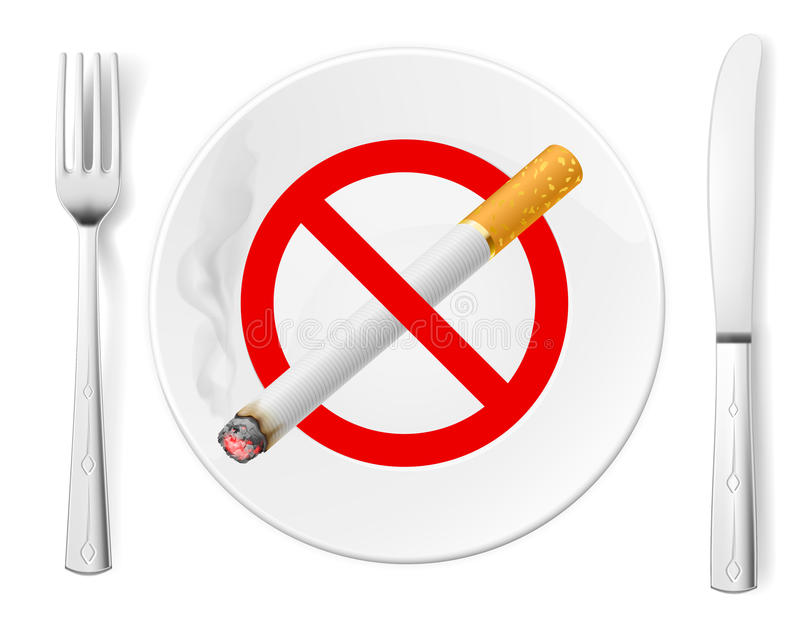 Απαγόρευση του καπνίσματος απεικόνιση αποθεμάτων