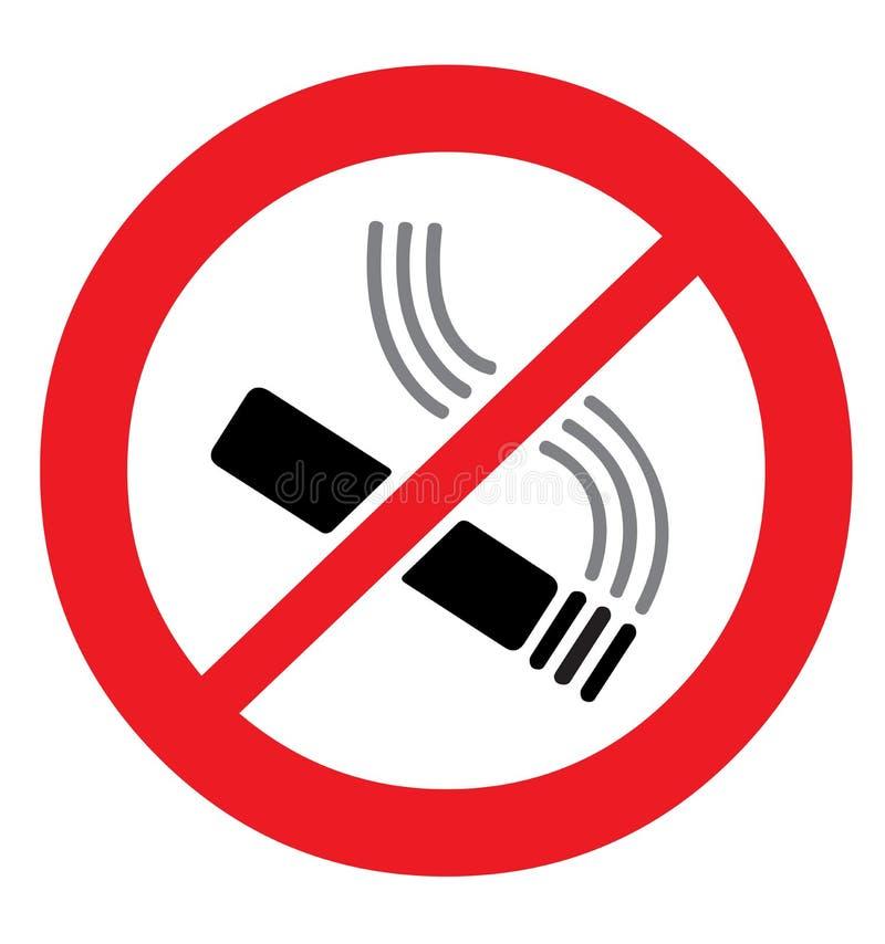απαγόρευση του καπνίσματος διανυσματική απεικόνιση