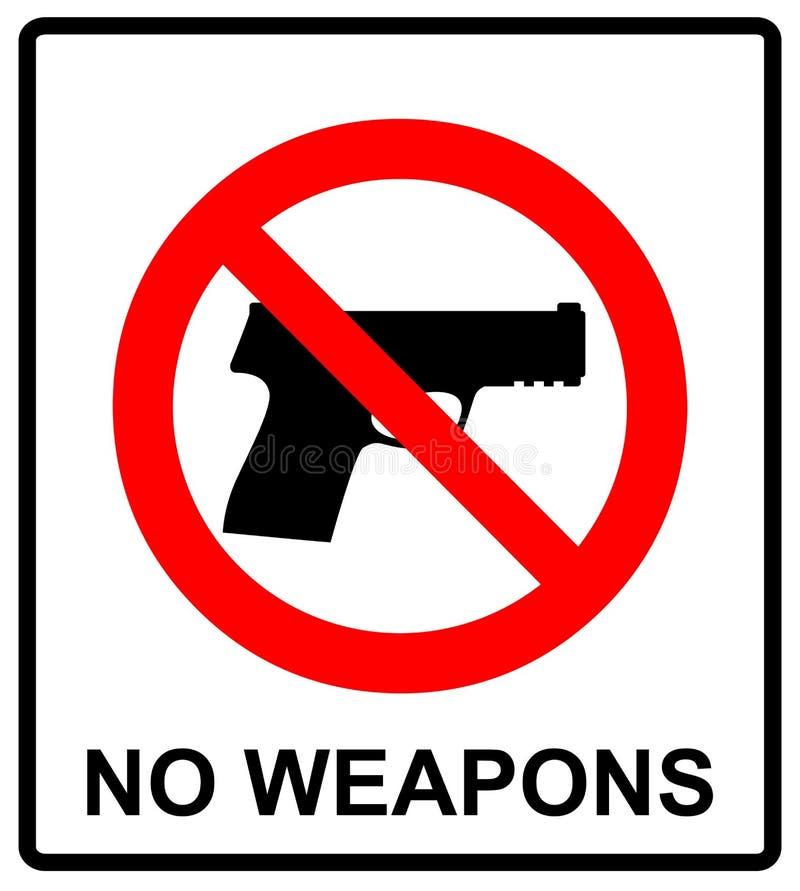 Απαγόρευση του σημαδιού για το πυροβόλο όπλο Κανένα σημάδι πυροβόλων όπλων επίσης corel σύρετε το διάνυσμα απεικόνισης διανυσματική απεικόνιση