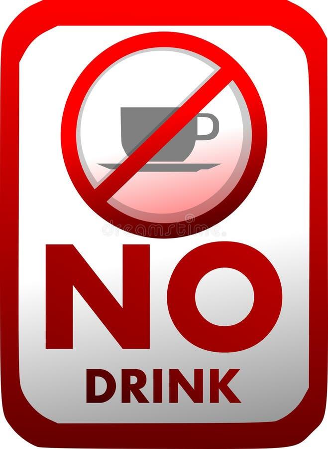 Απαγόρευση των ποτών εισαγωγής σε κόκκινο και το λευκό που απομονώνεται διανυσματική απεικόνιση