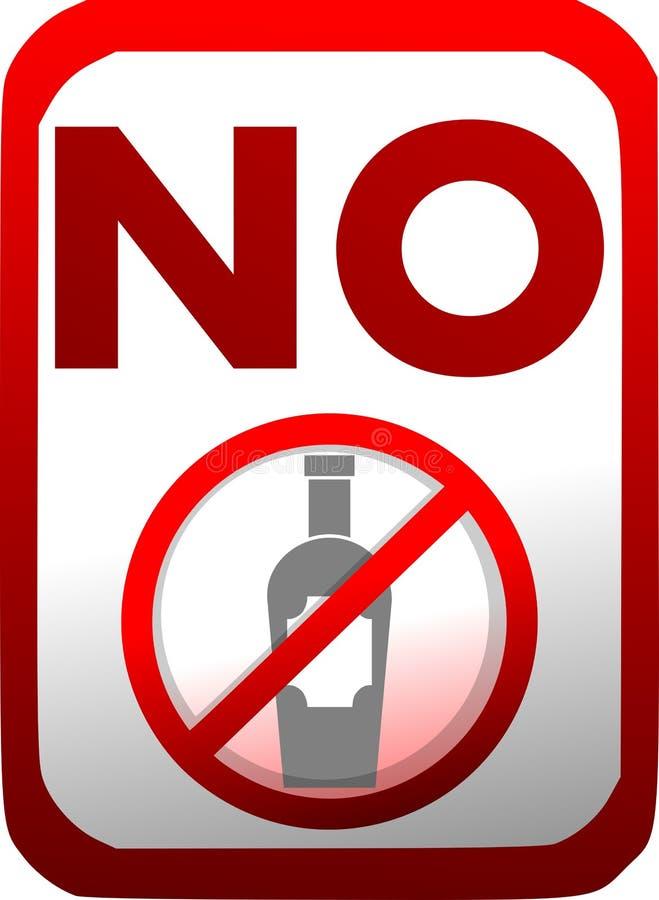 Απαγόρευση των ποτών εισαγωγής σε κόκκινο και το λευκό που απομονώνεται ελεύθερη απεικόνιση δικαιώματος