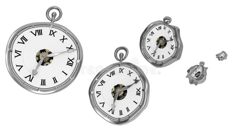 Απαλό ρολόι, συμπίεση χρόνου απεικόνιση αποθεμάτων