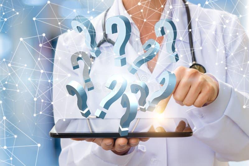 Απαντήσεις σε οποιεσδήποτε ιατρικές ερωτήσεις από ελεύθερη απεικόνιση δικαιώματος