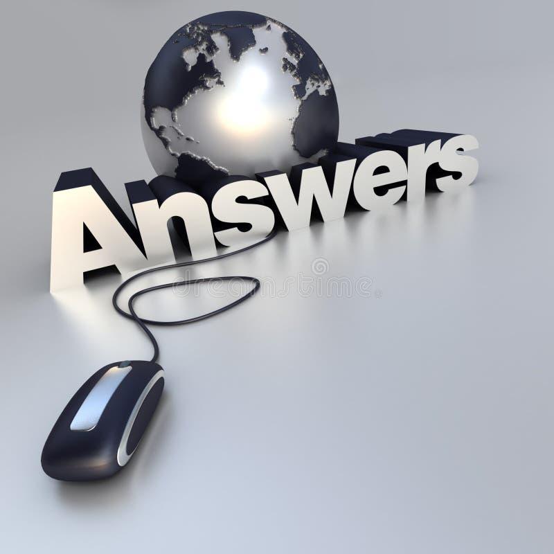 απαντήσεις on-line διανυσματική απεικόνιση
