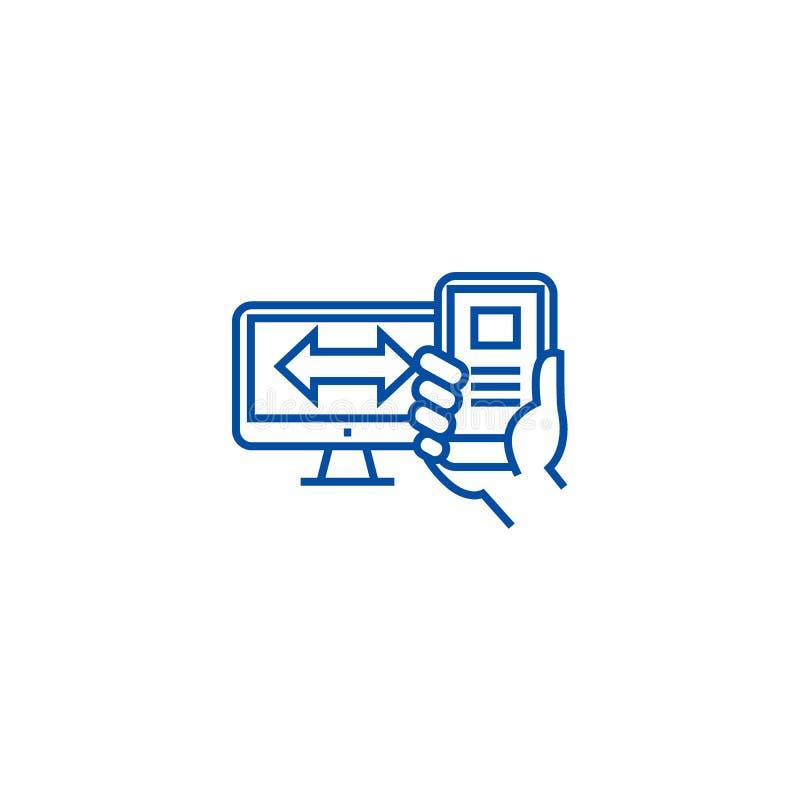 Απαντητική έννοια εικονιδίων γραμμών σχεδίου Απαντητικό επίπεδο διανυσματικό σύμβολο σχεδίου, σημάδι, απεικόνιση περιλήψεων απεικόνιση αποθεμάτων