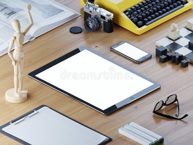 Απαντητική ταμπλέτα οθόνης προτύπων και έξυπνο τηλέφωνο διανυσματική απεικόνιση