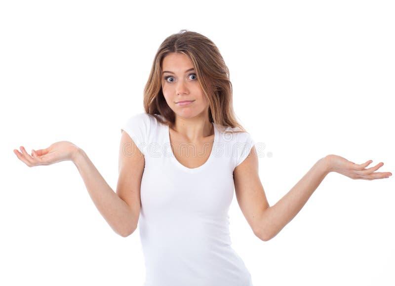 Απαξίωση της νέας γυναίκας στην αμφιβολία στοκ φωτογραφία με δικαίωμα ελεύθερης χρήσης