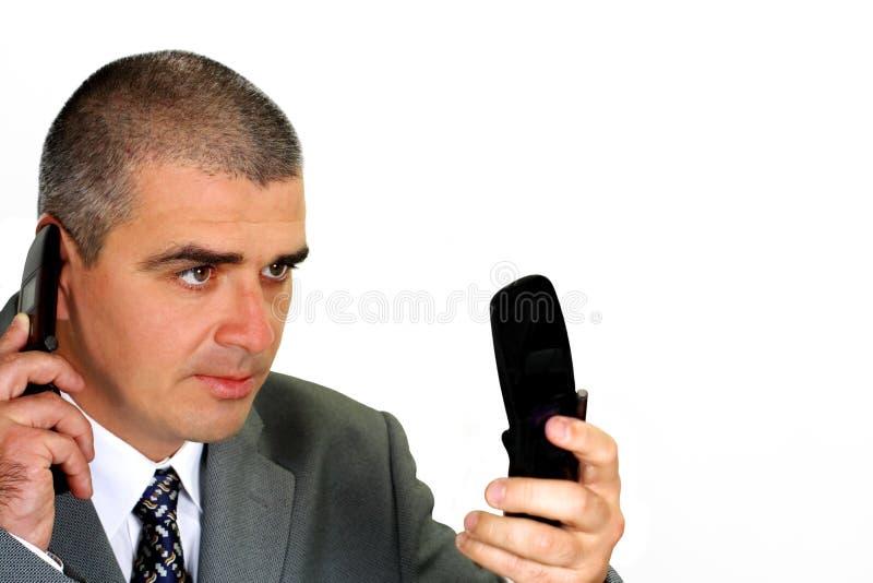 απασχολημένη επικοινωνί&alpha στοκ φωτογραφία με δικαίωμα ελεύθερης χρήσης