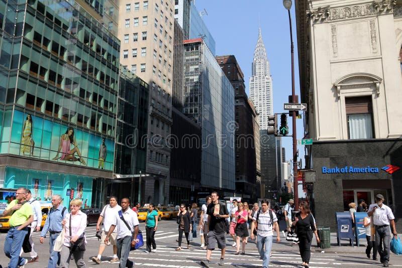 απασχολημένη νέα οδός Υόρκ&e στοκ φωτογραφία με δικαίωμα ελεύθερης χρήσης