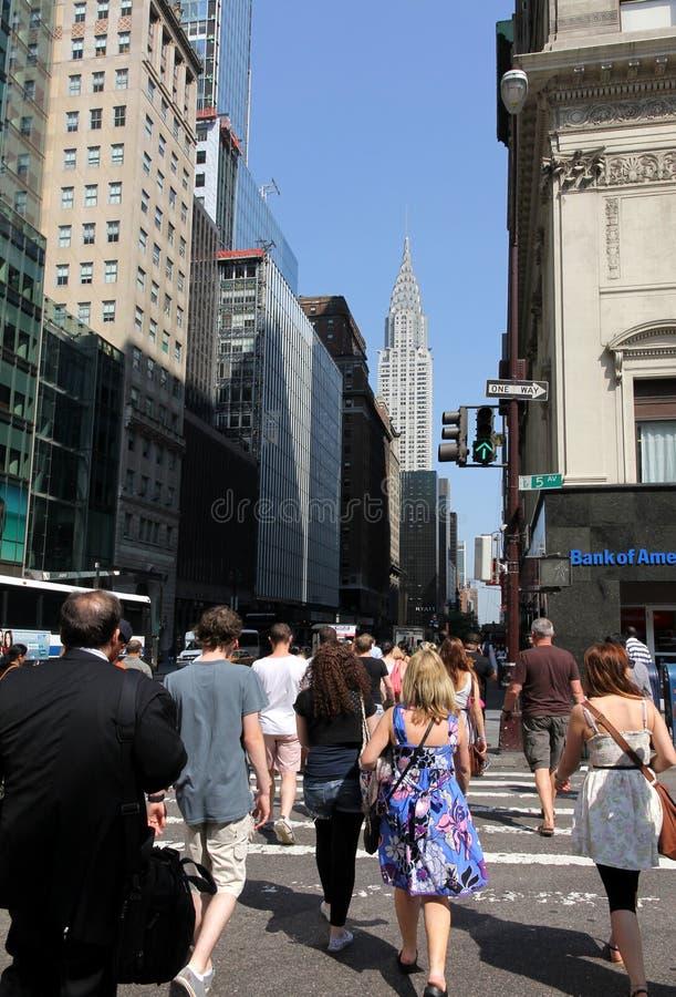 απασχολημένη νέα οδός Υόρκ&e στοκ φωτογραφία