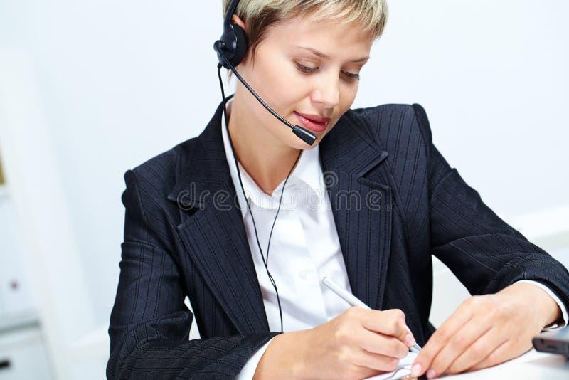 απασχολημένος γραμματέας στοκ εικόνα με δικαίωμα ελεύθερης χρήσης