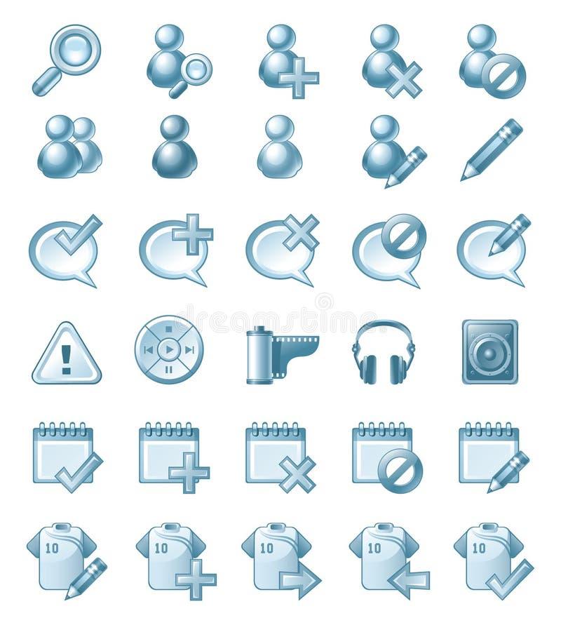 Απεικονίσεις εικονιδίων διανυσματική απεικόνιση