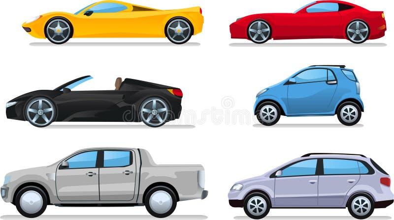 Απεικονίσεις κινούμενων σχεδίων αυτοκινήτων διανυσματική απεικόνιση
